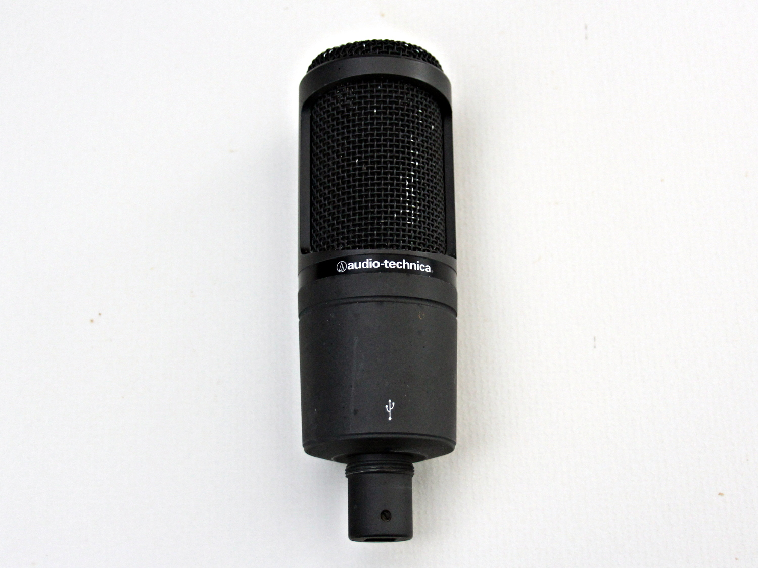An AT2020 USB microphone, a reasonably high quality recording microphone that can connect directly to any computer